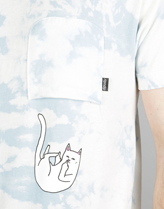 RIPNDIP Falling for Nermal Pocket T-Shirt - Blue Lightning Wash