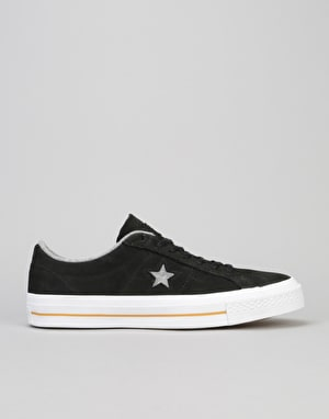 Converse One Star Skate Shoes - Black/Ash Grey/Gum