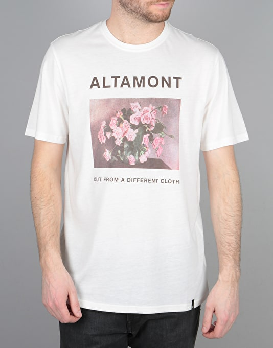 Altamont CFADA Flowers T-Shirt - Dirty White