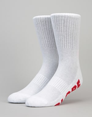 Globe Stealth Crew Socks 5 Pack - White