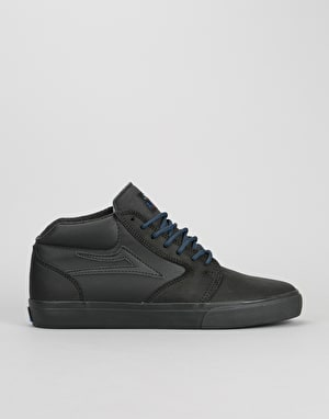 Lakai Fura High WT Skate Shoes - Black/Black Oiled Suede