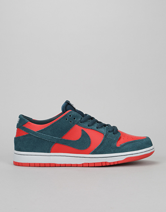 Nike SB Dunk Low Skate Shoes - Nightshade/Nightshade-Chile Red