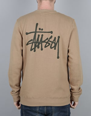 Stüssy Basic Stüssy Crew Sweatshirt - Light Brown