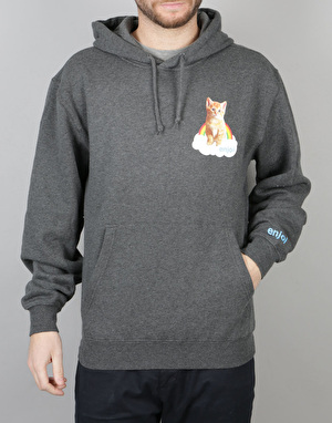 Enjoi Pocket Kitten Pullover Hoodie - Charcoal Heather
