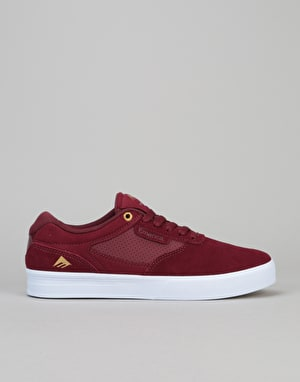 Emerica Empire G6 Skate Shoes - Burgundy/White
