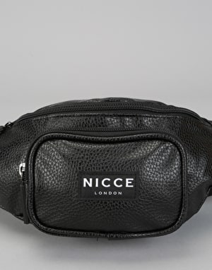 Nicce Tumbled Cross Body Bag - Black