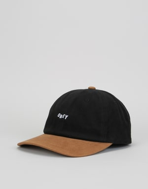 Obey 90's Jumble Bar 6 Panel Cap - Black/Tan