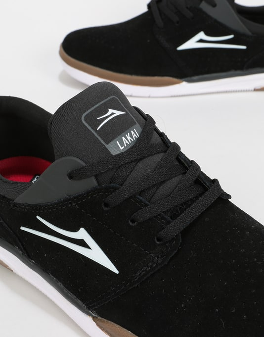 Lakai Fremont Skate Shoes - Black/Grey Suede