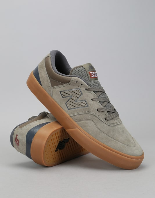 New Balance Numeric 358 Skate Shoes - Olive/Gum