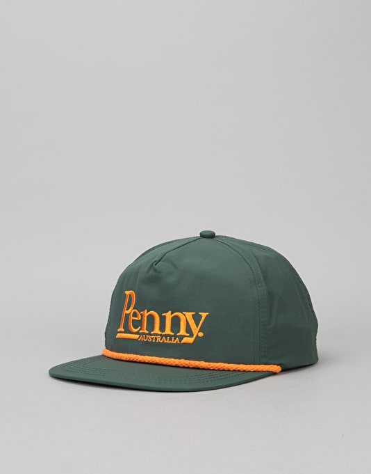 Penny Skateboards Snapback Cap - Forest Green Orange  639d6706f9d