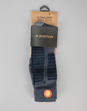 Burton Ultralight Wool Snowboard Socks - Mood Indigo Heather