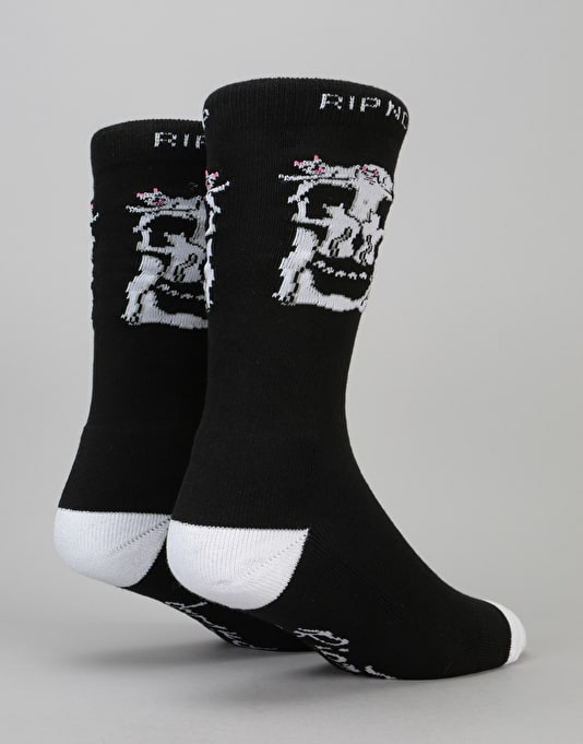 RIPNDIP Nerm Skull Socks - Black/Grey