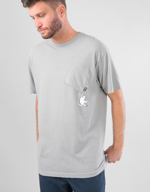RIPNDIP Hang In There Pocket T-Shirt - Ash