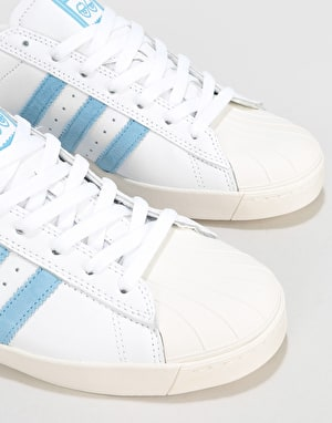 Adidas x Krooked Superstar Vulc Skate Shoes - White/Custom/Chalk White