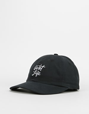 The Quiet Life Script Polo Cap - Black
