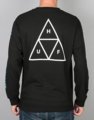 HUF Multi Triple Triangle L/S T-Shirt - Black