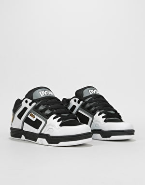 DVS Commanche Skate Shoes - White/Charcoal Nubuck