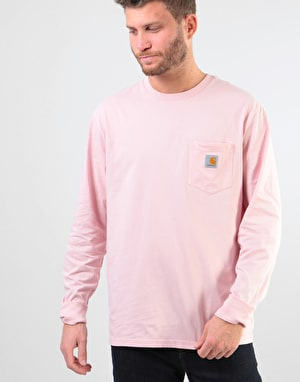 Carhartt L/S Pocket T-Shirt - Sandy Rose
