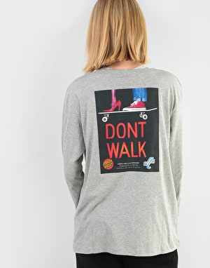 Santa Cruz Womens Don't Walk L/S T-Shirt - Heather Grey