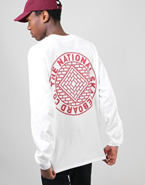 The National Skateboard Co. Team L/S T-Shirt - Cream