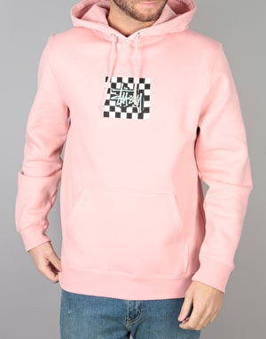 Stüssy Checkers Pullover Hoodie - Dusty Rose