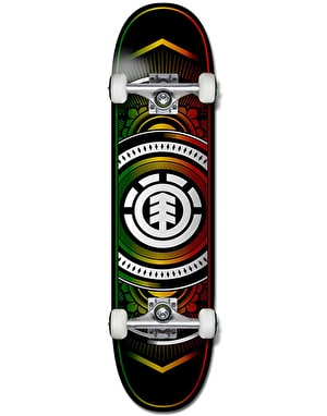 Element Hatched Rasta Complete Skateboard - 8