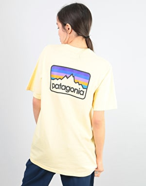 Patagonia Womens Line Logo Badge Oversized T-Shirt - Crest Yellow