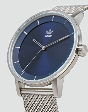 Adidas District M1 Watch - Silver/Navy Sunray