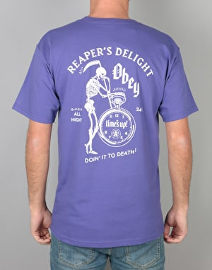 Obey Reaper's Delight T-Shirt - Purple