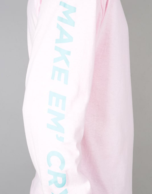 HUF Make Em Cry L/S T-Shirt - Pink