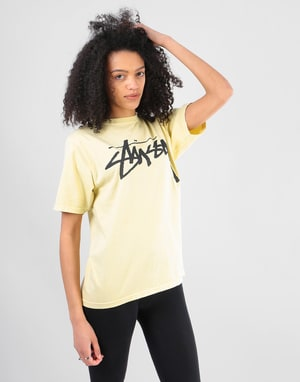 Stüssy Womens Old Stock T-Shirt - Yellow