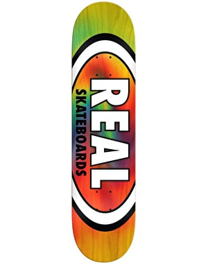 Real Oval Tie Dye Team Deck - 8.06
