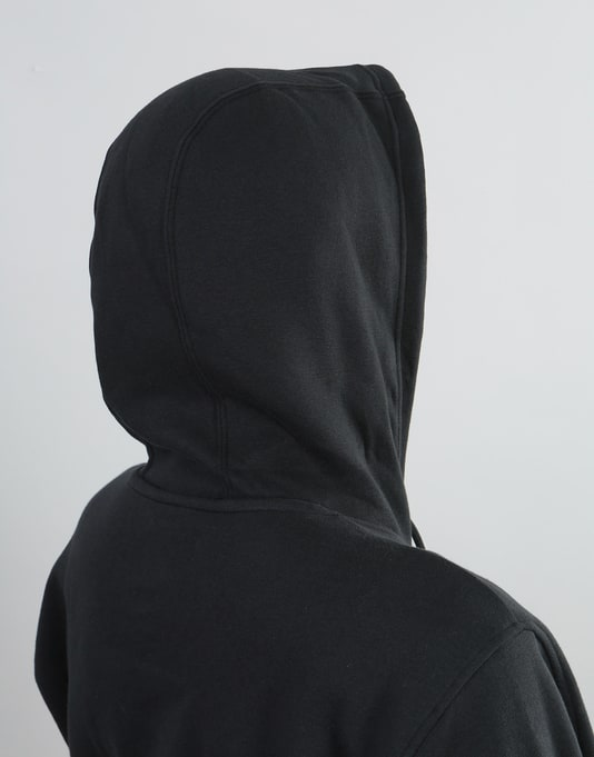 Adidas Womens Solid Blackbird Oversized Hoodie - Black/White