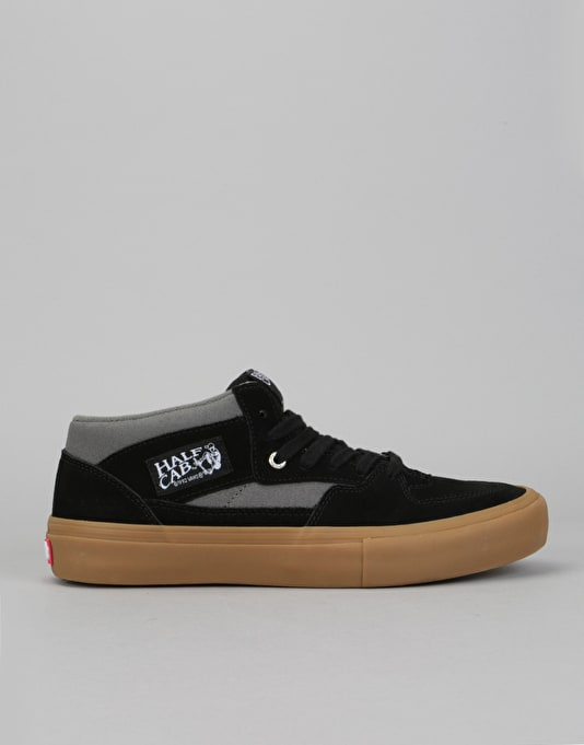 8f6624625f0e Vans Half Cab Pro Skate Shoes - Black Pewter Gum