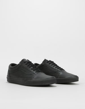 Vans Old Skool Skate Shoes - (Embossed Sidewall) Black