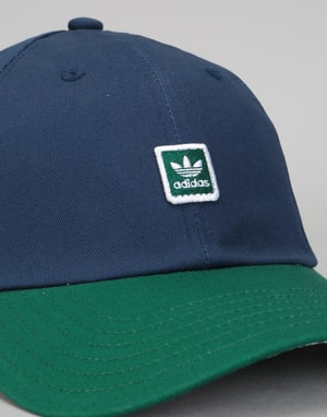 Adidas Tartan 6 Panel Cap - Night Indigo/Collegiate Green