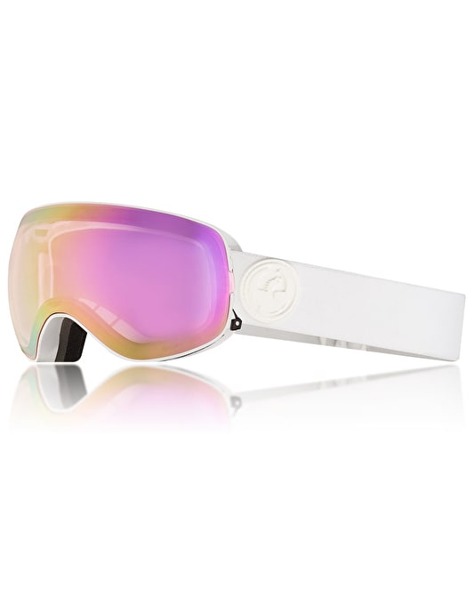 Dragon X2s 2018 Snowboard Goggles - Whiteout/LUMALENS® Pink Ion