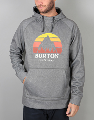 Burton Crown Bonded Pullover Hoodie - Monument Heather