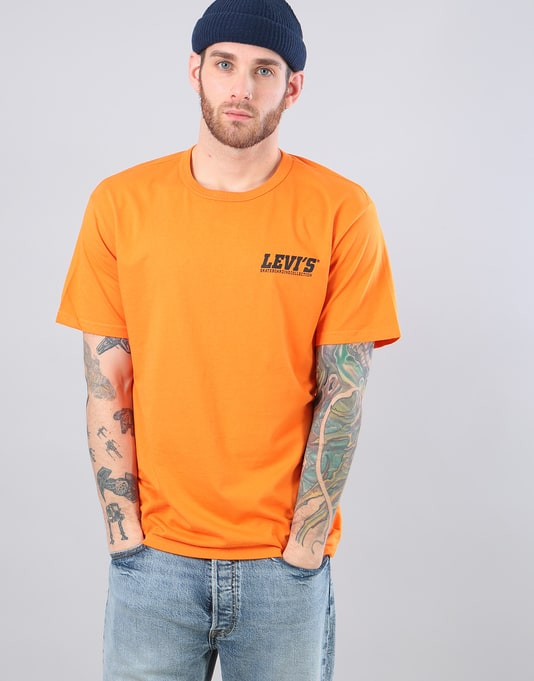 Levi's Skateboarding Graphic S/S T-Shirt - Orange Small Logo