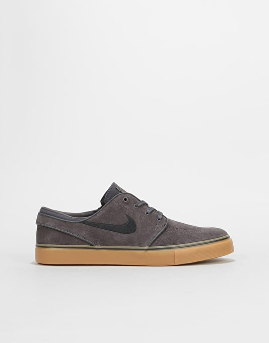 Nike SB Stefan Janoski Boys Skate Shoes - Thunder Grey/Black/Gum Light