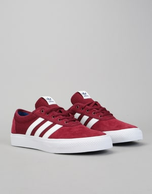 Adidas Adi-Ease Skate Shoes - Collegiate Burgundy/White/Royal