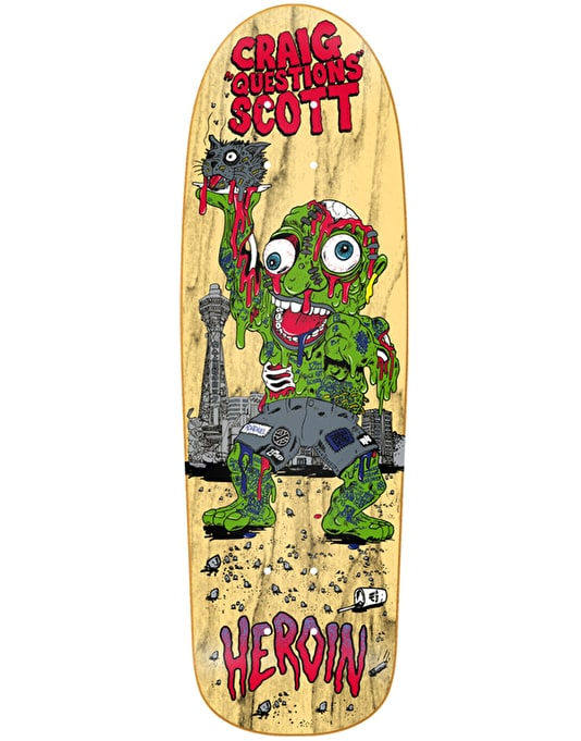 Heroin Questions Slime Guy Skateboard Deck - 10""