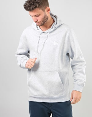 Stüssy Basic Stüssy Pullover Hoodie - Grey Heather