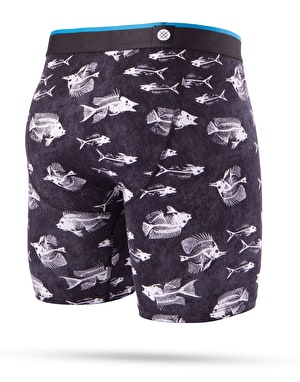 Stance Fish Bones Boxer Shorts - Black
