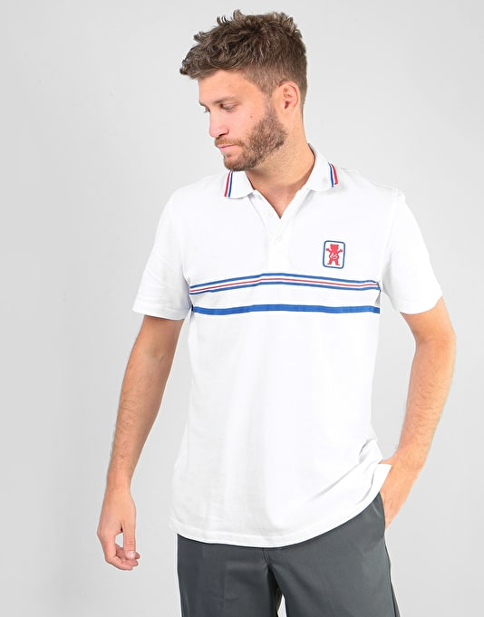 éS x Grizzly Court Classic Polo-Shirt - white SWuut