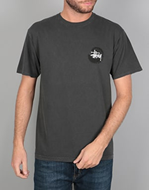 Stüssy Basic Swirl Pigment Dyed T-Shirt - Black