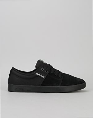 Supra Stacks II Skate Shoes - Black/Silver