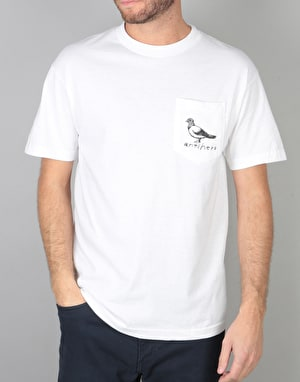 Anti Hero Lil OG Pigeon Pocket T-Shirt - White