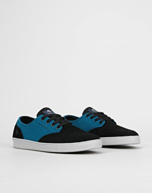 Emerica x Toy Machine Romero Laced Skate Shoes - Black/Turquoise