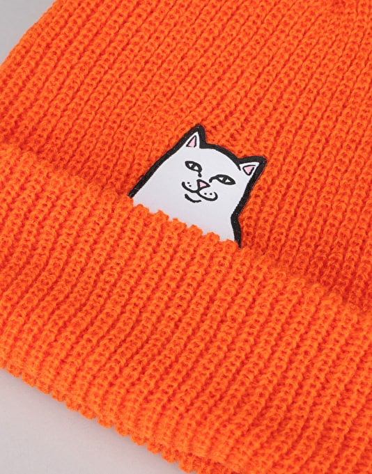 RIPNDIP Lord Nermal Ribbed Beanie - Safety Orange